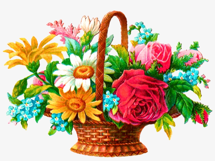 Flower Basket Png Clip Freeuse - Bouquet - Free Transparent PNG ...