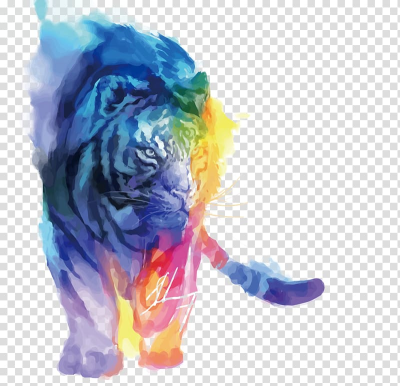 Graphics tablet Digital art Drawing Artist, Watercolor Tiger ...
