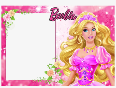 Barbie Background Frame Border, Barbie, Doll, Picture - Barbie ...