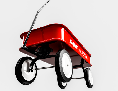 Simple Radio Flyer Red Wagon by Code One Designs on Cad Crowd