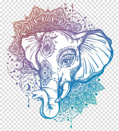 Mandala elephant illustration, Tattoo artist Mandala Ganesha ...