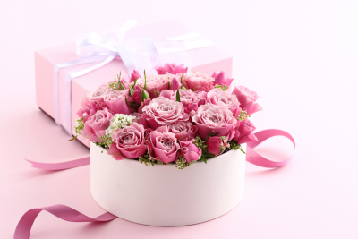 Pink Roses Pink Background | Gallery Yopriceville - High-Quality ...