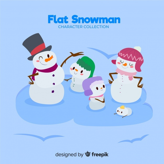 Free Snowman family background SVG DXF EPS PNG - Download Free SVG ...