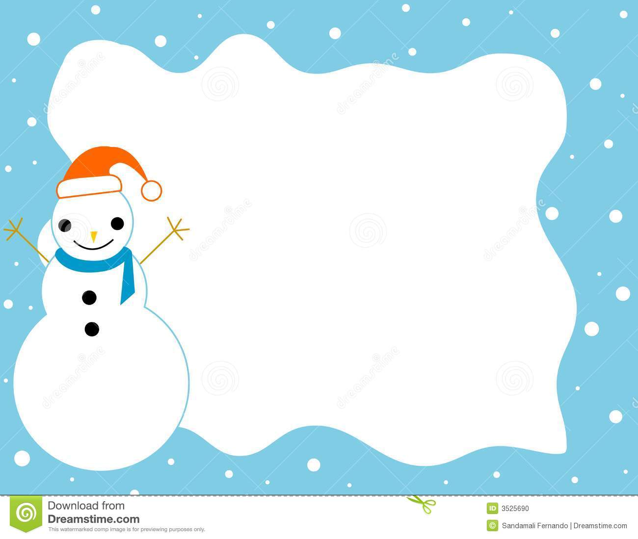 Winter Border / frame stock illustration. Illustration of clipart ...