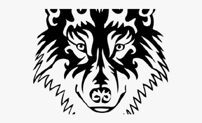 Tattoo Designs Clipart Wolf - Transparent Tribal Wolf Png #1306439 ...