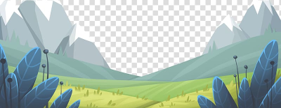 Meadow Animation, Cartoon mountain meadow leaf transparent ...