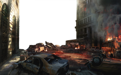 Destroyed City Empty Background (PSD) | Official PSDs