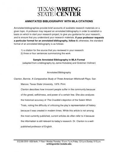Annotated Bibliography Mla Format Library Of Examples Png Files ...