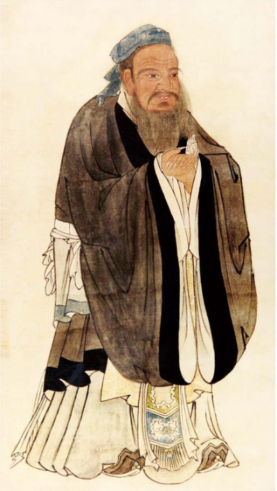 孔子聖蹟圖 ~ Portrait of Confucius by the Ming dynasty artist Qiu ...
