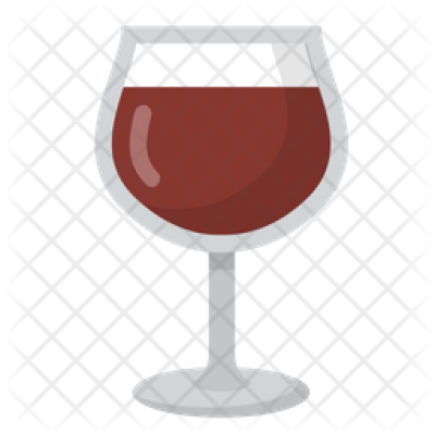 Red Wine Glass Icon of Flat style - Available in SVG, PNG, EPS, AI ...