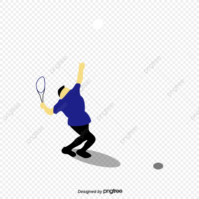 Hand Painted Style Men Play Badminton, Posture, Hand Drawn Style ...