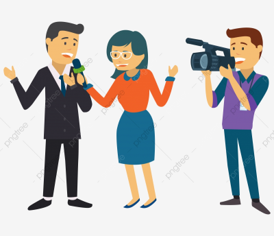 News Reporter, Tv, Microphone, Journalism PNG and Vector with ...