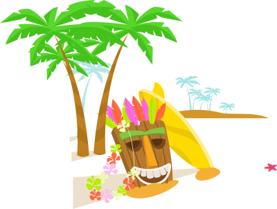 Hawaii Clipart Island Hawaiian - Hawaii Beach Background Png ...