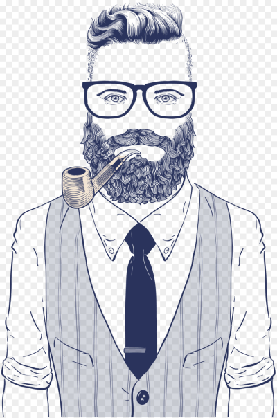 Hipster Drawing Retro style Illustration - Vector man wearing ...