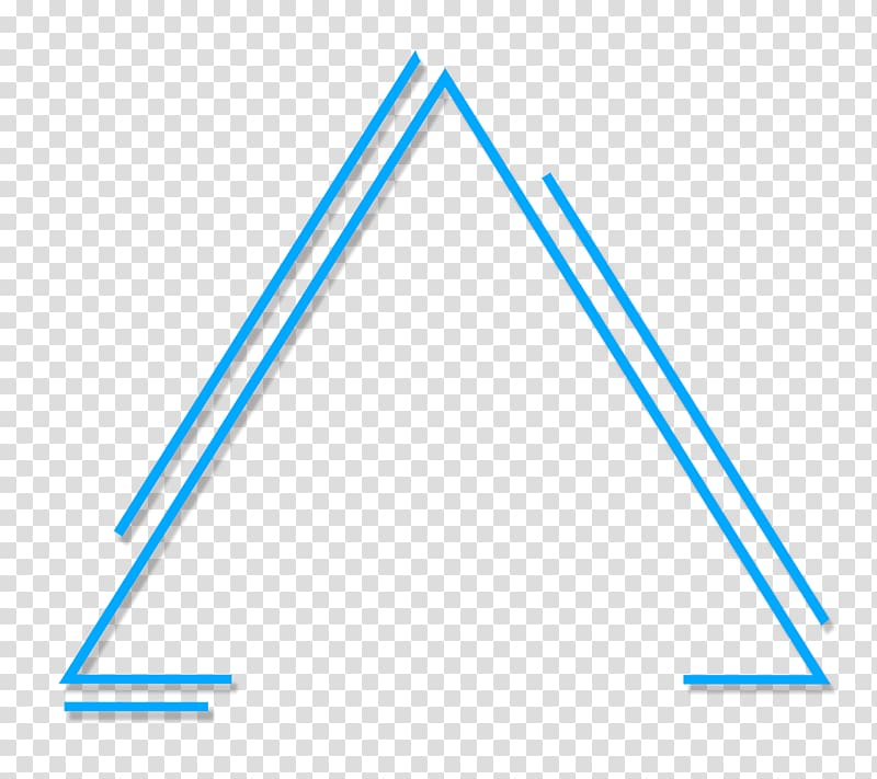 Abstract geometric triangle, blue triangle illustration ...