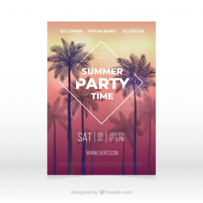 Free Summer party poster SVG DXF EPS PNG - Free Commercial Use SVG ...