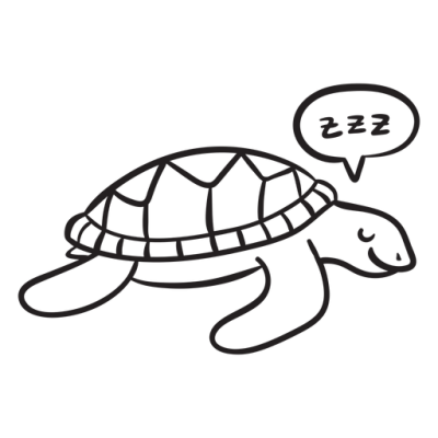 Sleeping sea turtle outline - Transparent PNG & SVG vector file