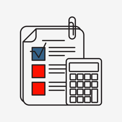 Calculating Icon | Business And Finance With Outline Filled Style ...