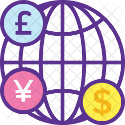 Global Finance Icon of Colored Outline style - Available in SVG ...