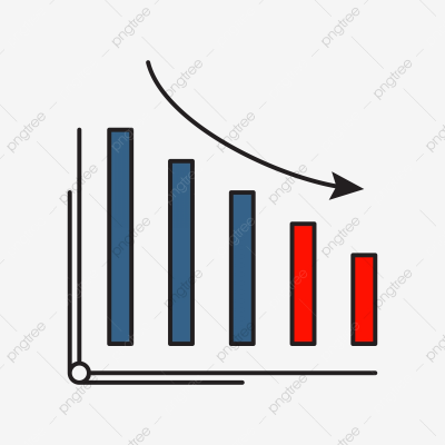 Decrease Icon | Business And Finance With Outline Filled Style ...