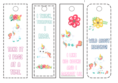 Printable Unicorn Bookmarks Kids Can Color - Views From a Step Stool