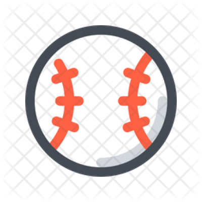 Baseball Icon of Colored Outline style - Available in SVG, PNG ...