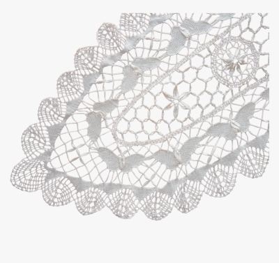 Transparent Vintage Lace Border Png - Crochet, Png Download - kindpng