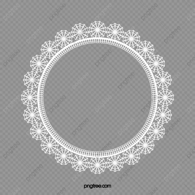 Round White Lace Border 03, White, Round, Lace PNG Transparent ...