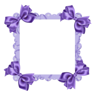 Lace & Purple Flower Border | Purple Transparent Frame with Bow ...