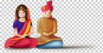 Weddings in India Marriage couple, cartoon wedding couple PNG ...