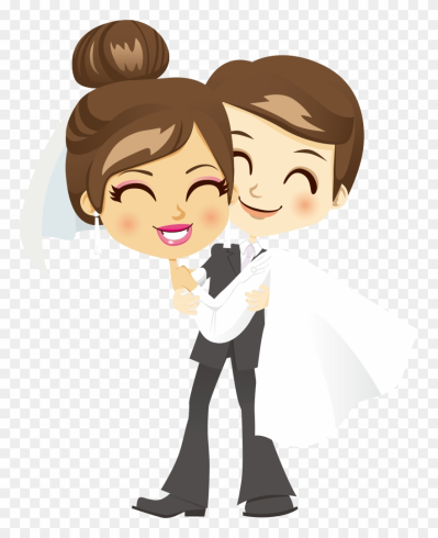 Bridegroom Wedding Clip Art - Png Couple Cartoon Hd Transparent ...