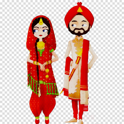 Bride And Groom Cartoon clipart - India, Bride, Wedding ...
