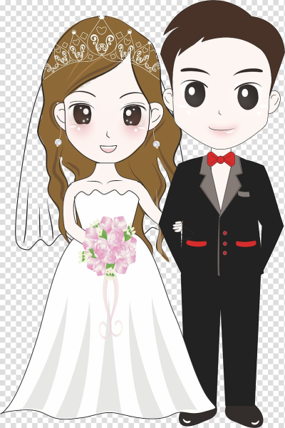 Wedding couple illustration, Bridegroom Wedding Illustration ...