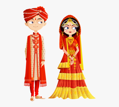 Groom Clipart Emoji Bride - Indian Wedding Couple Vector, HD Png ...