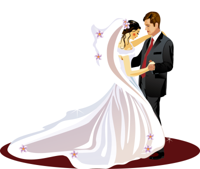 Wedding invitation Bridegroom Clip art - The bride and groom dance ...