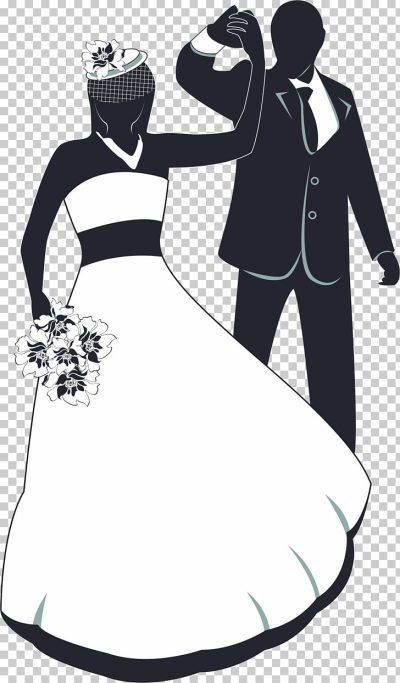 Wedding invitation , The bride and groom dancing PNG clipart ...