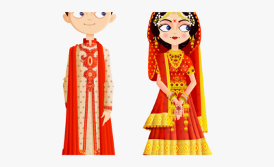Groom Clipart Married Woman - Indian Wedding Couple Cartoon Png ...
