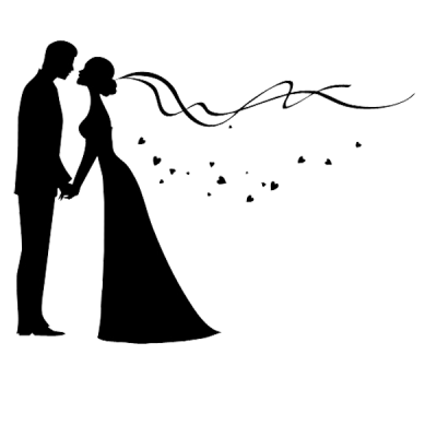 Bridegroom Wedding invitation Silhouette - The couple png download ...