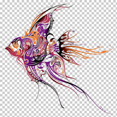 Angelfish Tattoo artist Drawing, Fish pattern PNG clipart | free ...