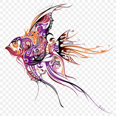 Angelfish Tattoo Artist Drawing, PNG, 1000x1000px, Angelfish ...