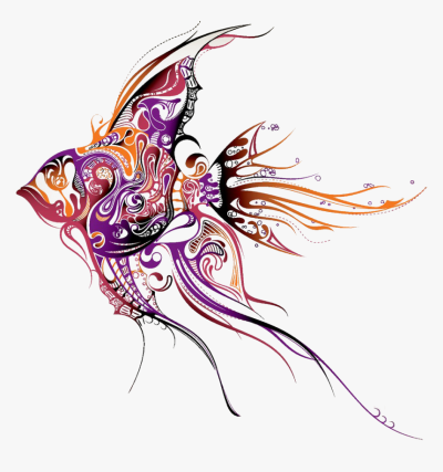 Clip Art Angel Fish Tattoo, HD Png Download , Transparent Png ...