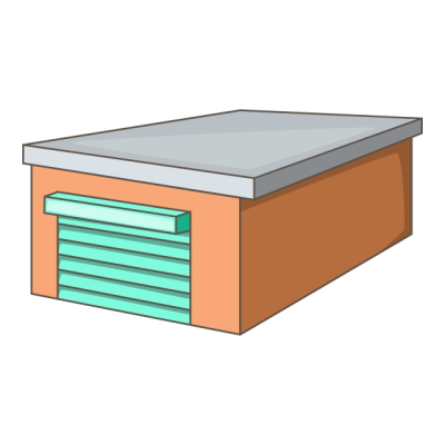 Garage Icon Cartoon Style, Garage, Warehouse, Building PNG and ...