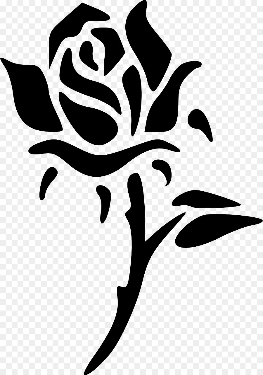 Stencil Flower Rose Floral design - flower png download - 898*1280 ...