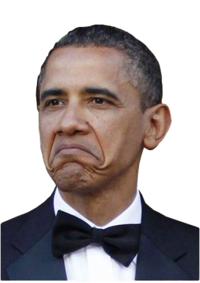 Not Bad Obama Face PNG Clipart