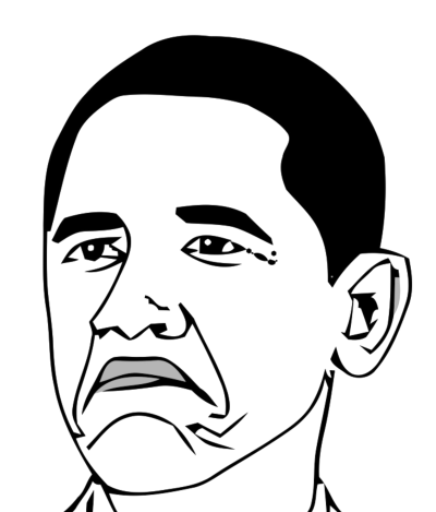 Not Bad Obama Face PNG File