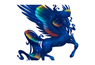 Winged Unicorn PNG Image