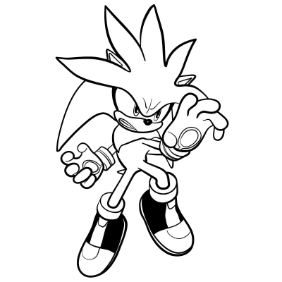Silver The Hedgehog PNG Image