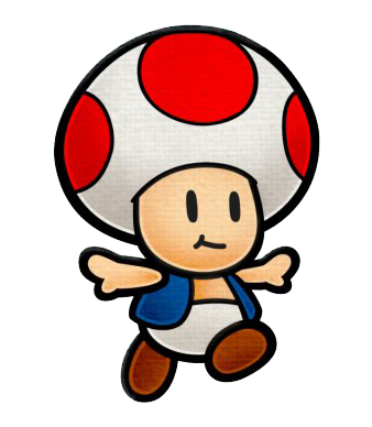 Super Mario Bros Toad PNG Clipart