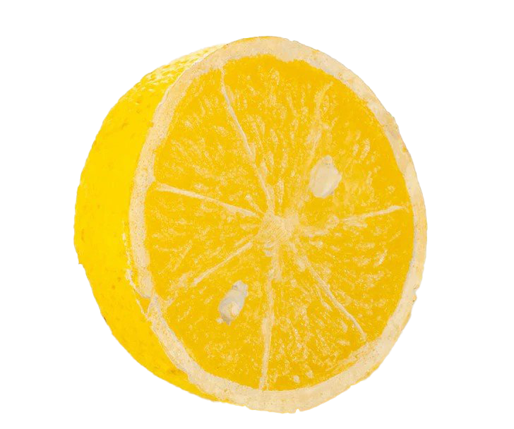 Half Lemon Cut PNG File