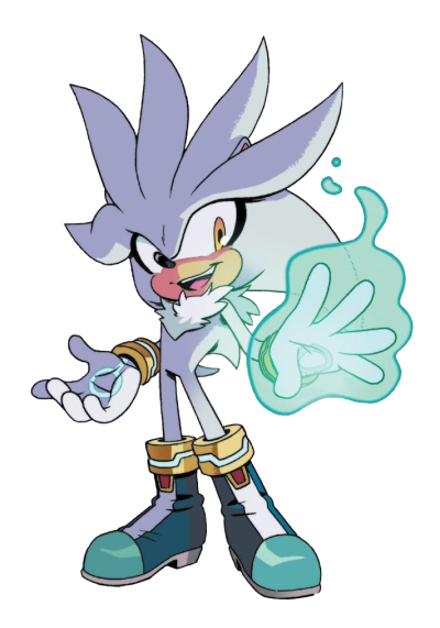 Silver The Hedgehog Background PNG